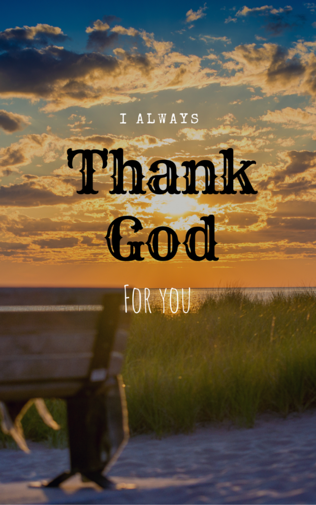 thank god for you
